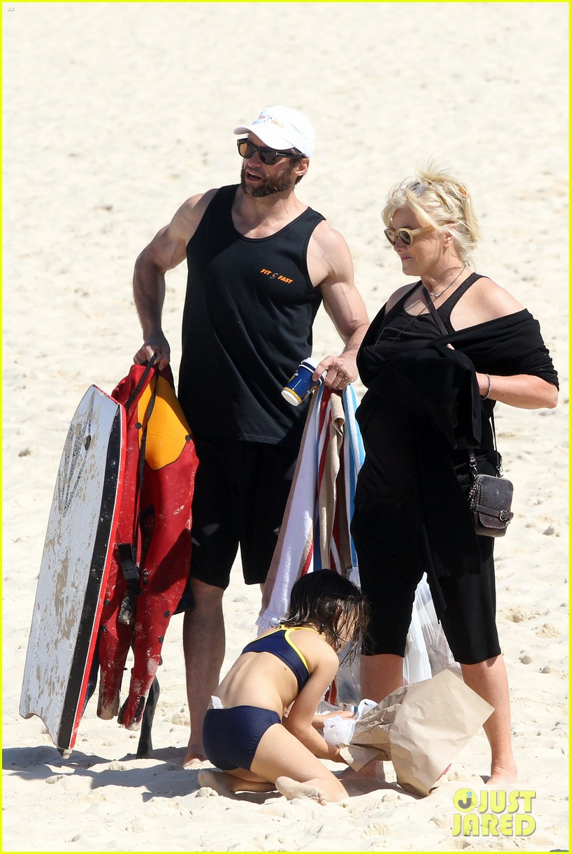 hugh jackman shirtless at bondi beach 052726459
