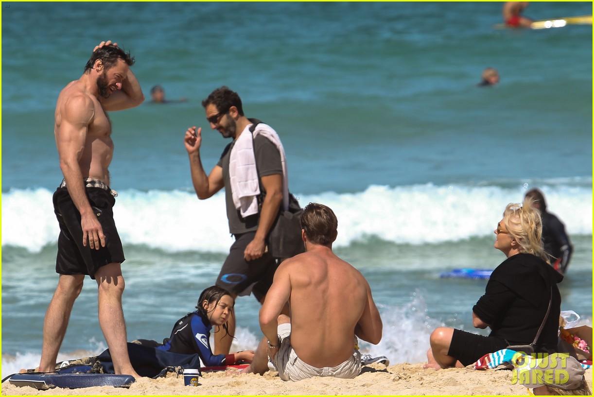 hugh jackman shirtless at bondi beach 072726461