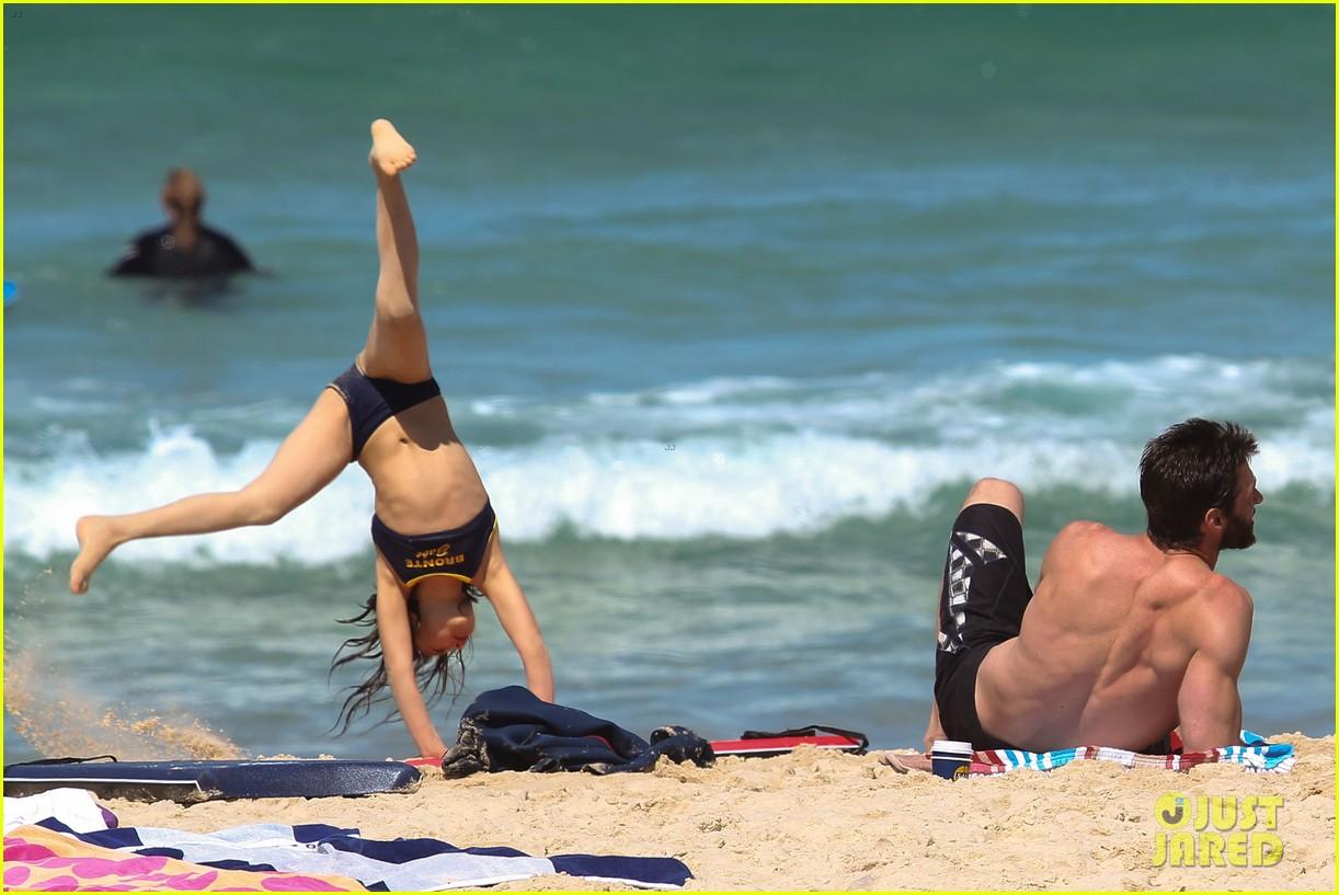 hugh jackman shirtless at bondi beach 172726471