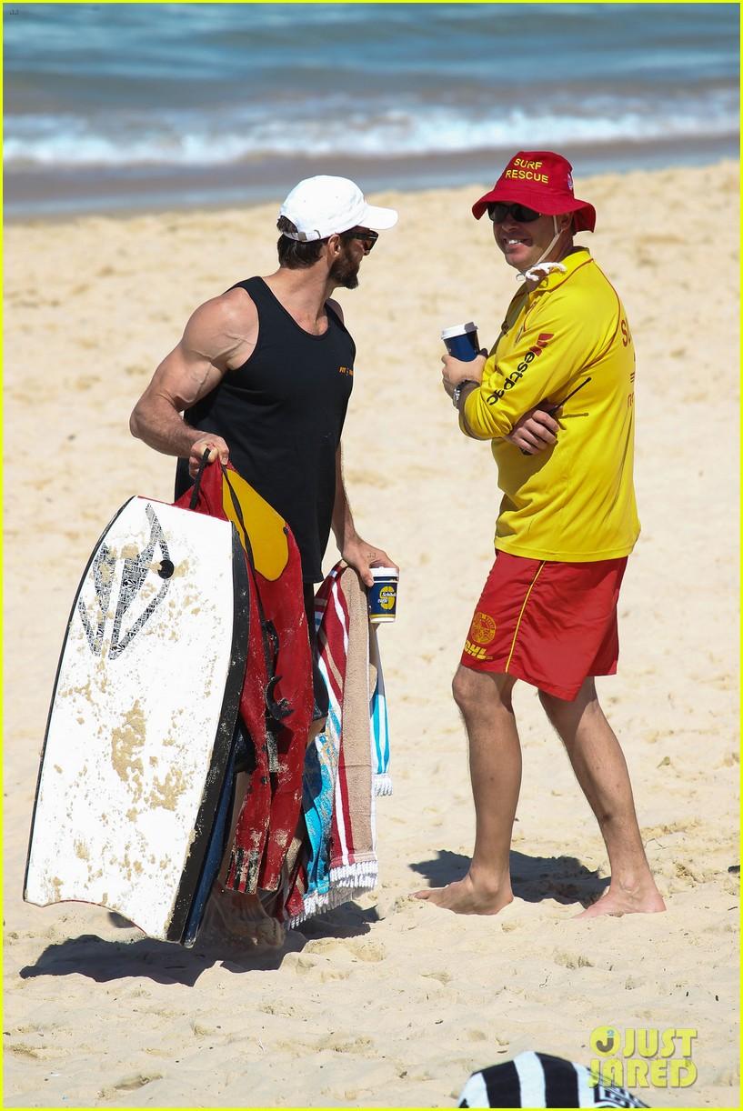 hugh jackman shirtless at bondi beach 212726475
