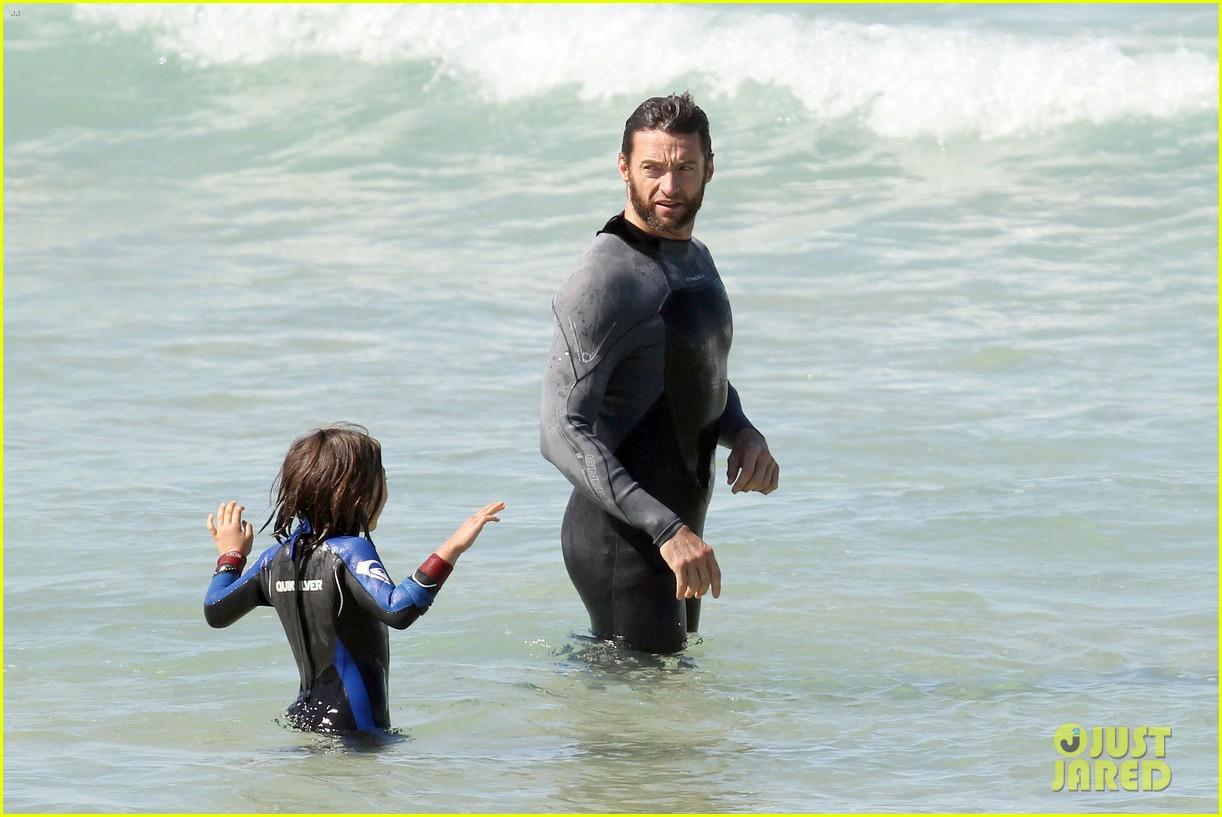 hugh jackman shirtless at bondi beach 262726480