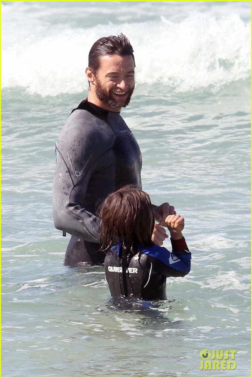 hugh jackman shirtless at bondi beach 272726481