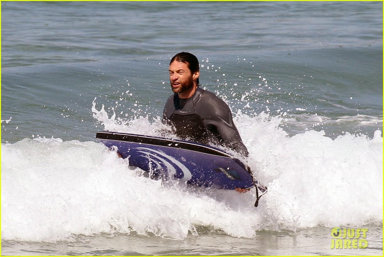hugh jackman shirtless at bondi beach 312726485