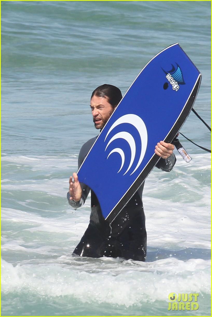 hugh jackman shirtless at bondi beach 322726486