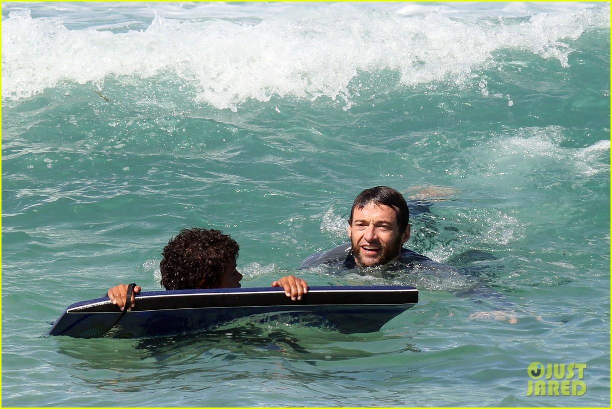 hugh jackman shirtless at bondi beach 352726489