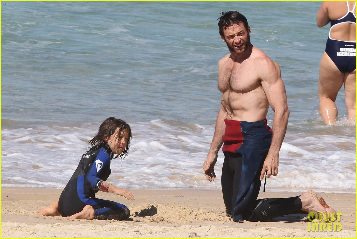hugh jackman shirtless at bondi beach 392726493