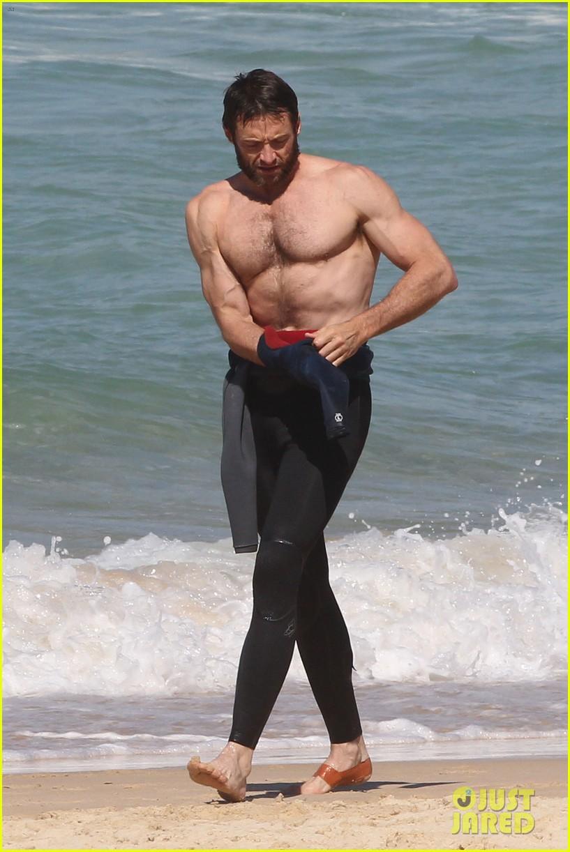 hugh jackman shirtless at bondi beach 462726500