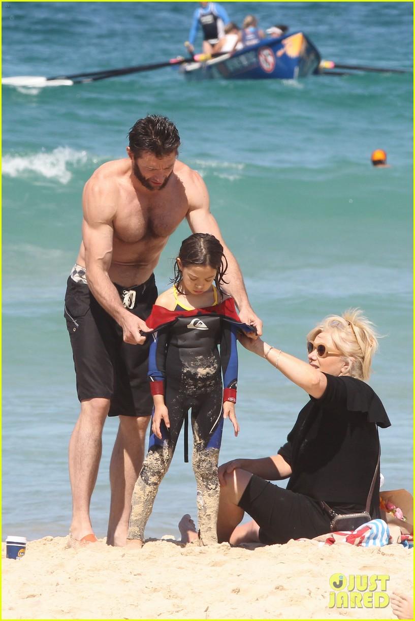 hugh jackman shirtless at bondi beach 542726508