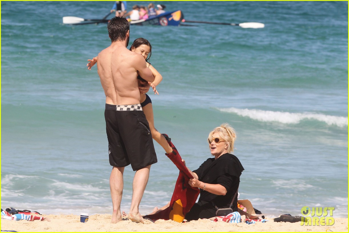 hugh jackman shirtless at bondi beach 552726509
