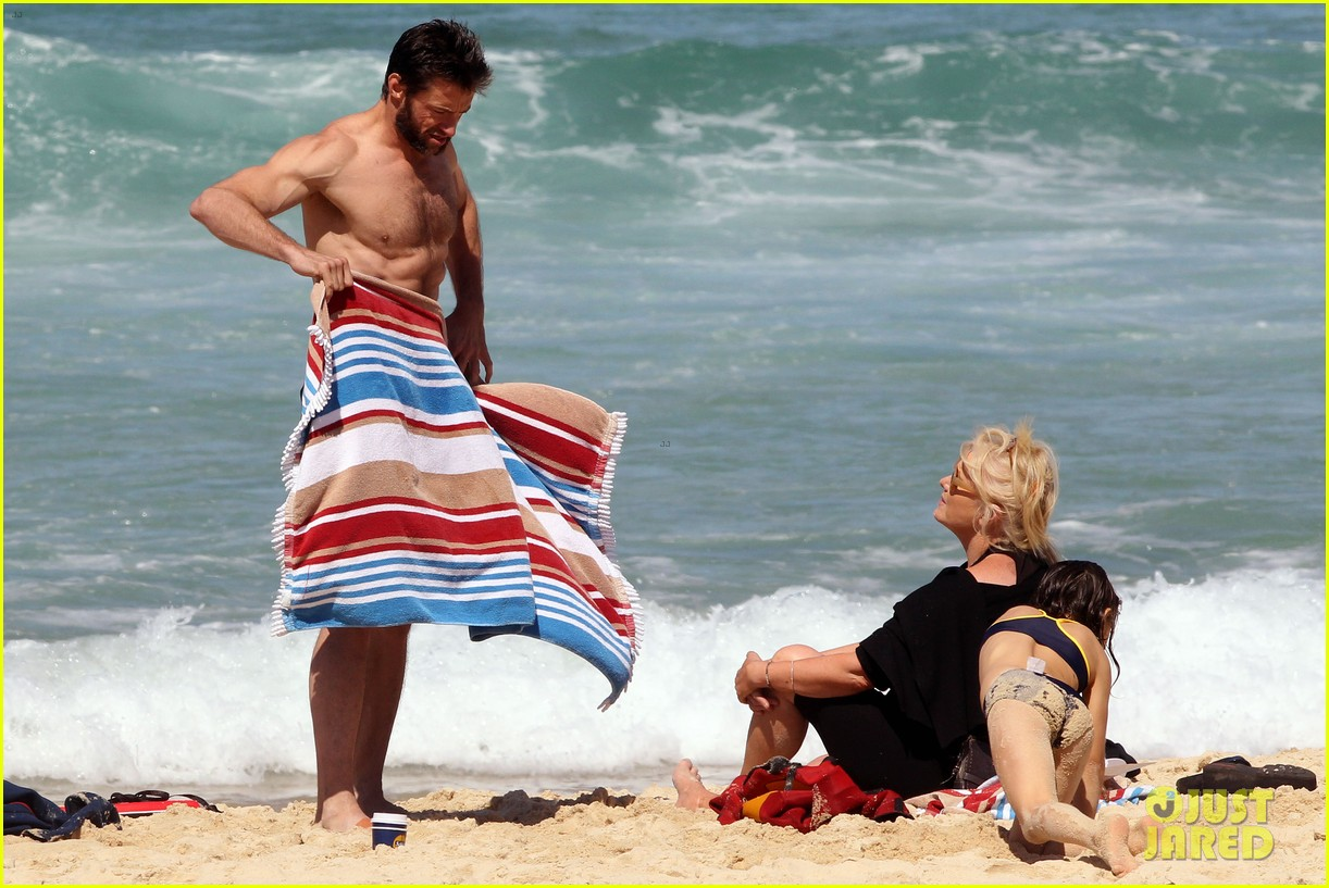 hugh jackman shirtless at bondi beach 582726512
