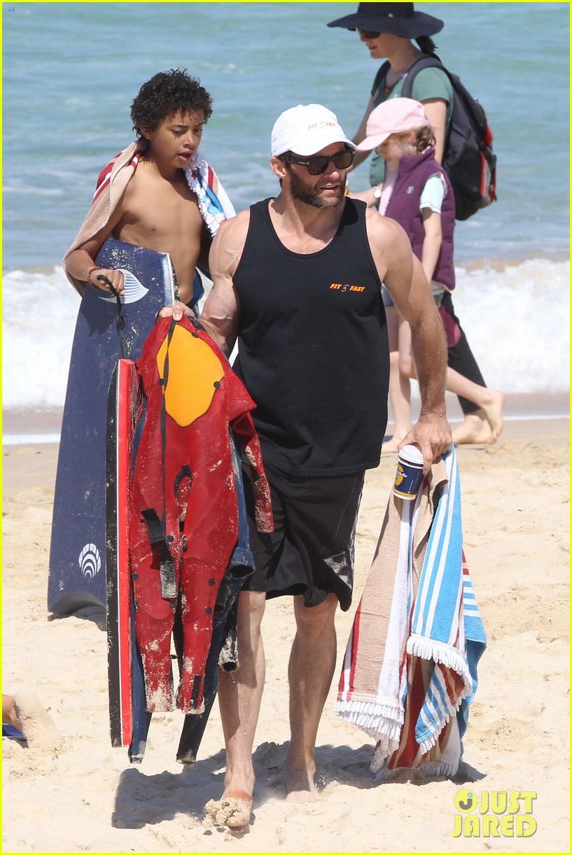 hugh jackman shirtless at bondi beach 652726519