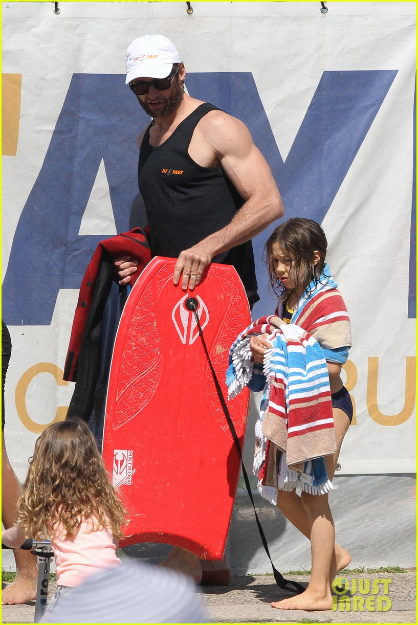 hugh jackman shirtless at bondi beach 692726523