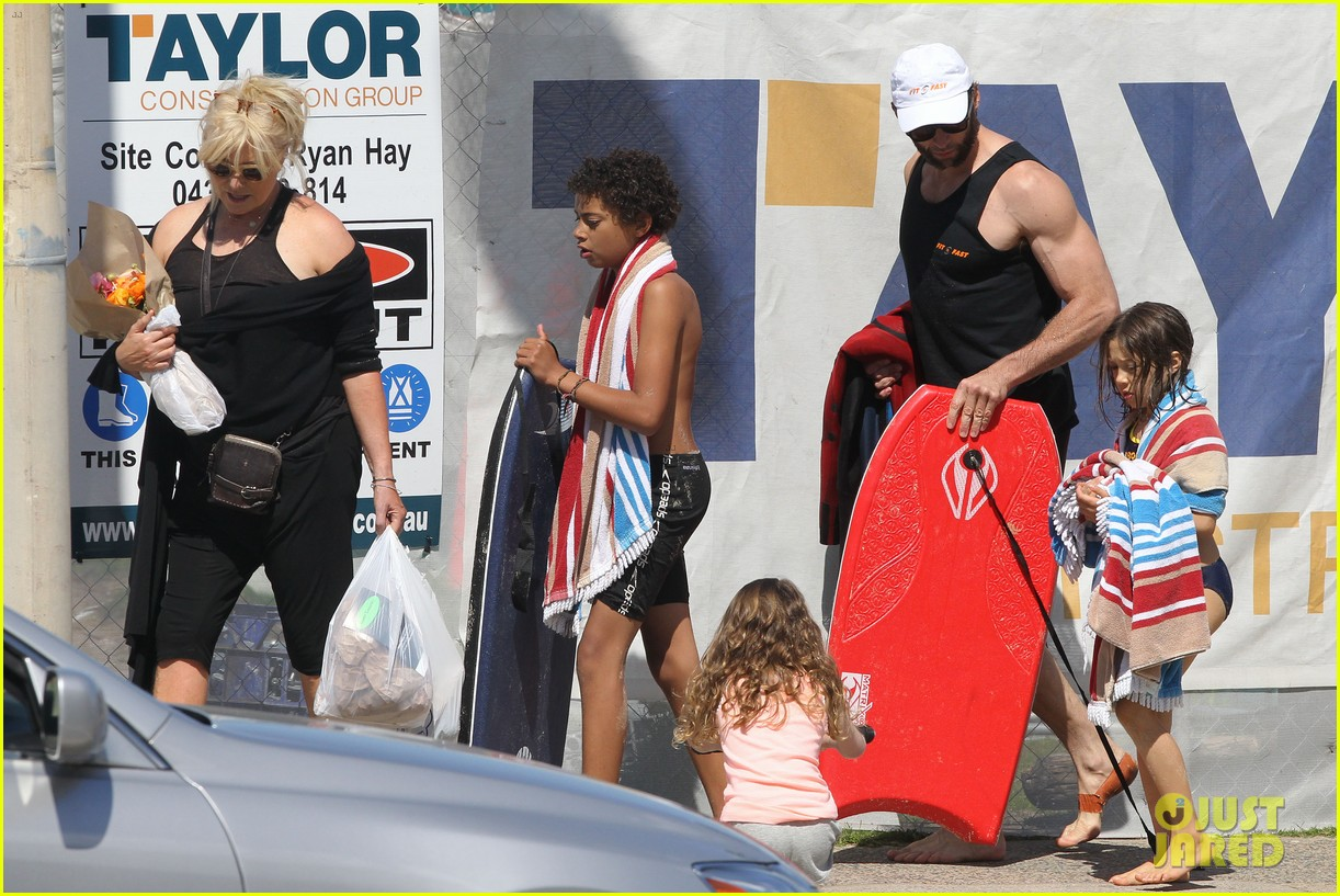 hugh jackman shirtless at bondi beach 702726524