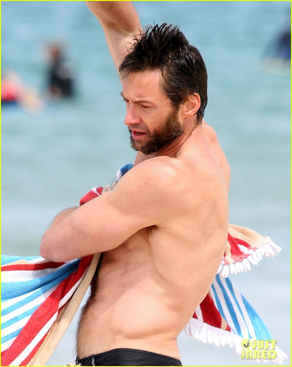 hugh jackman shirtless sydney stud 02