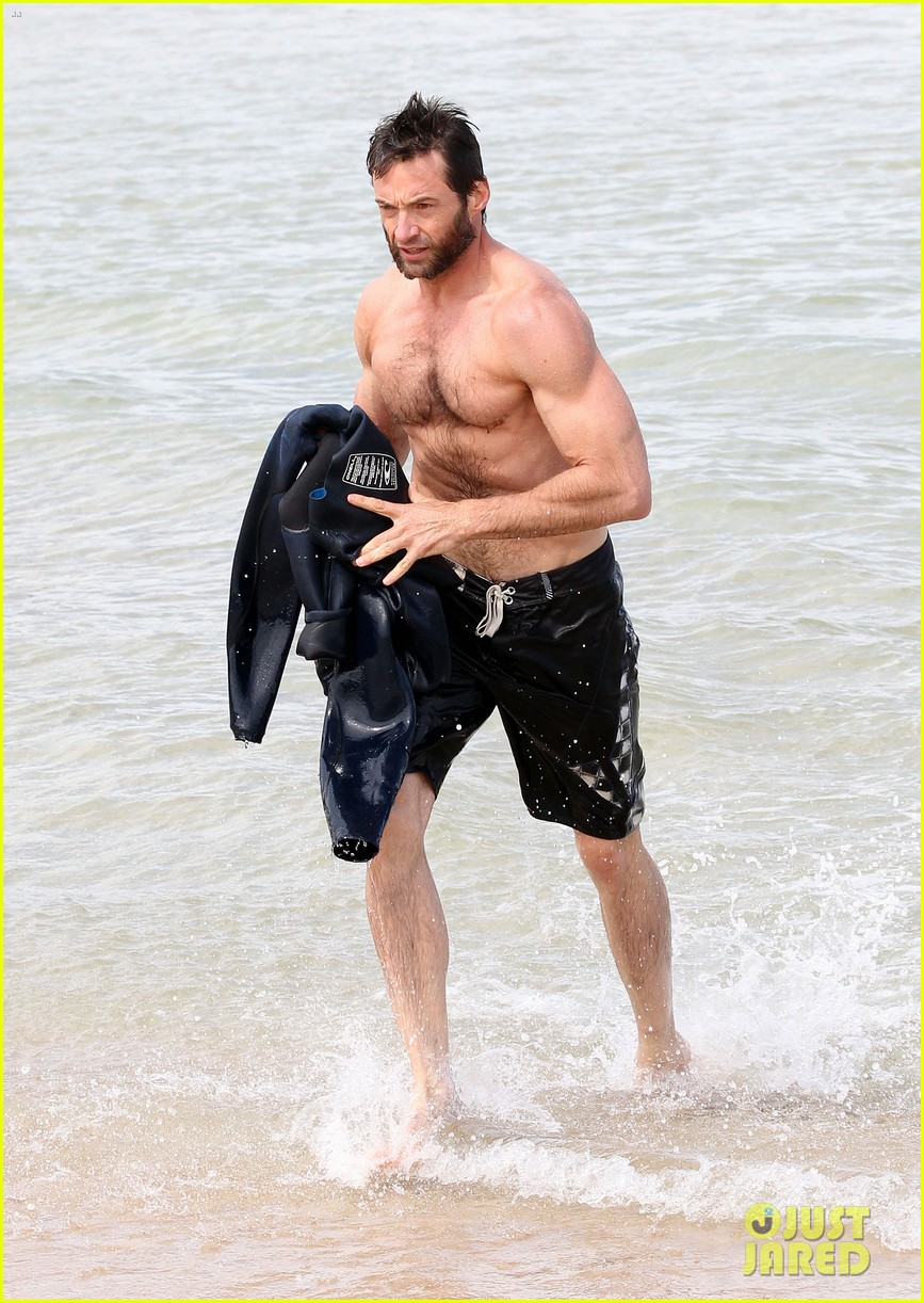 hugh jackman shirtless sydney stud 03
