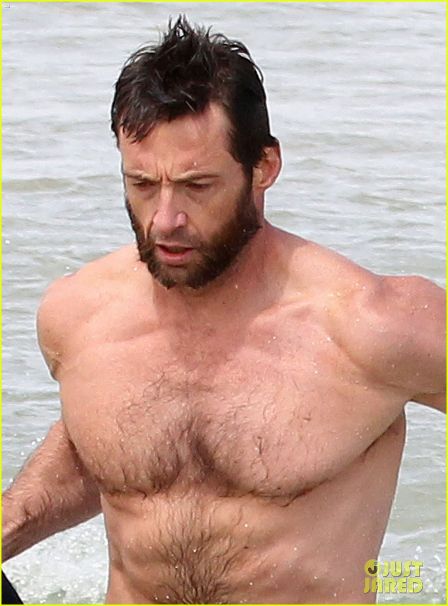 hugh jackman shirtless sydney stud 04