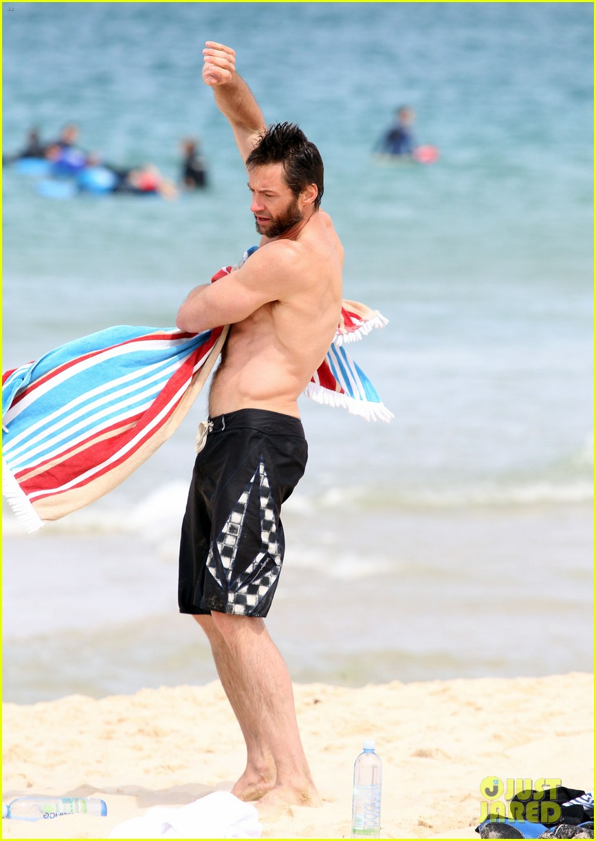 hugh jackman shirtless sydney stud 08
