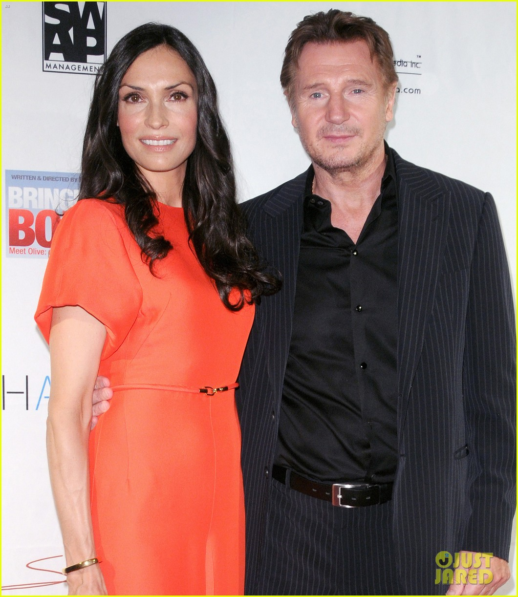 famke janssen bringing up bobby premiere with liam neeson 012728063