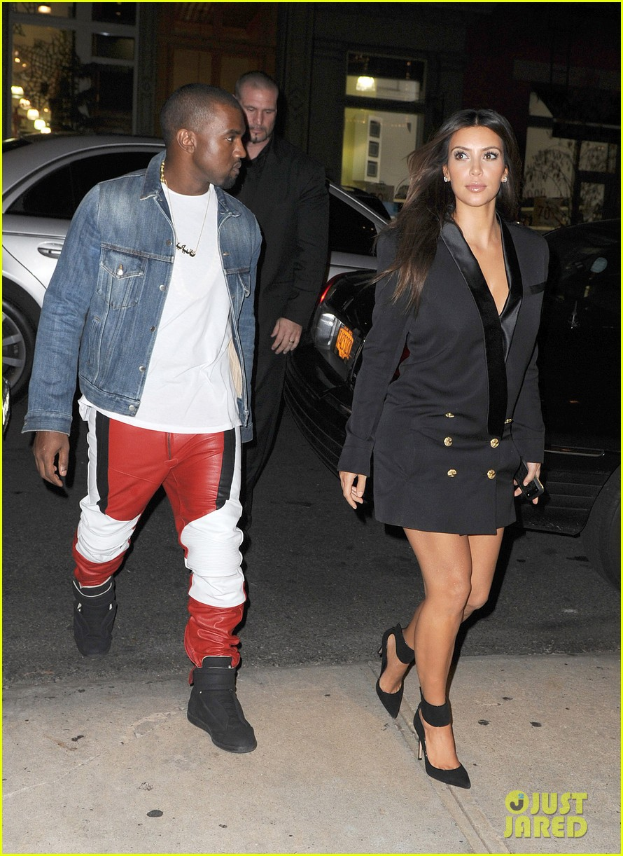 kim kardashian kanye west ice cream cone couple 232721525