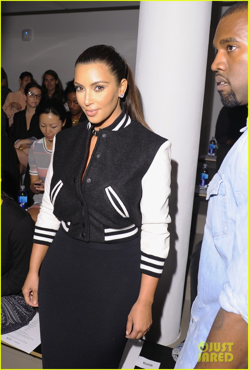 kim kardashian kanye west louise goldin fashion show 03