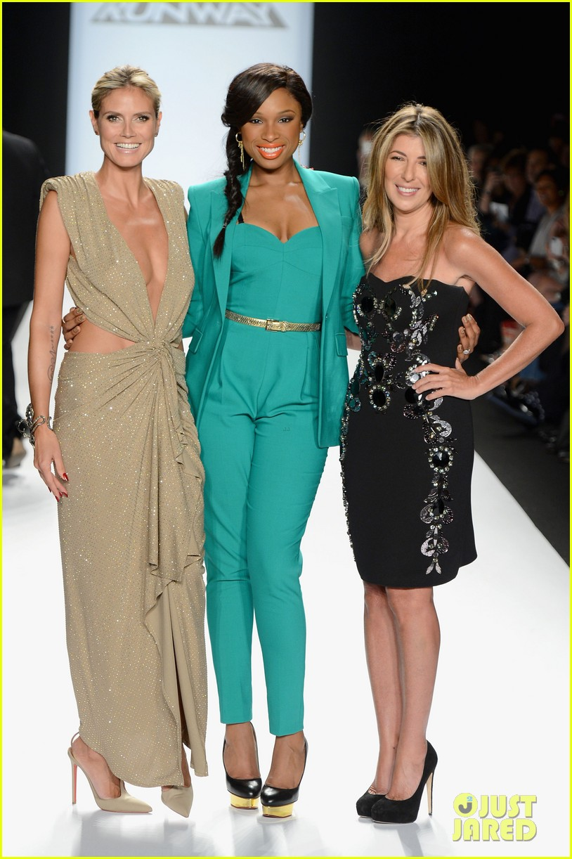 heidi klum jennifer hudson project runway fashion week 11