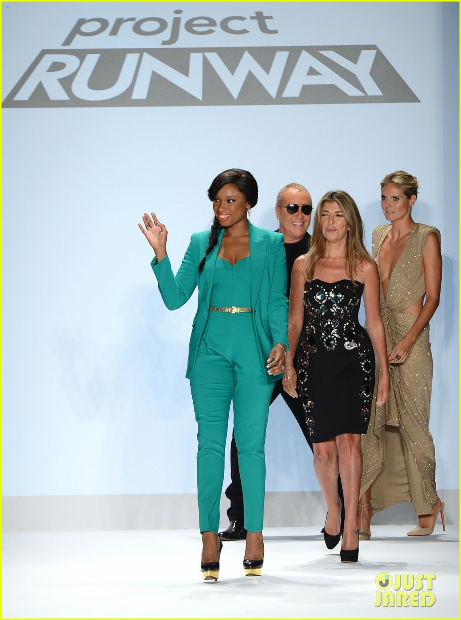 heidi klum jennifer hudson project runway fashion week 132716336