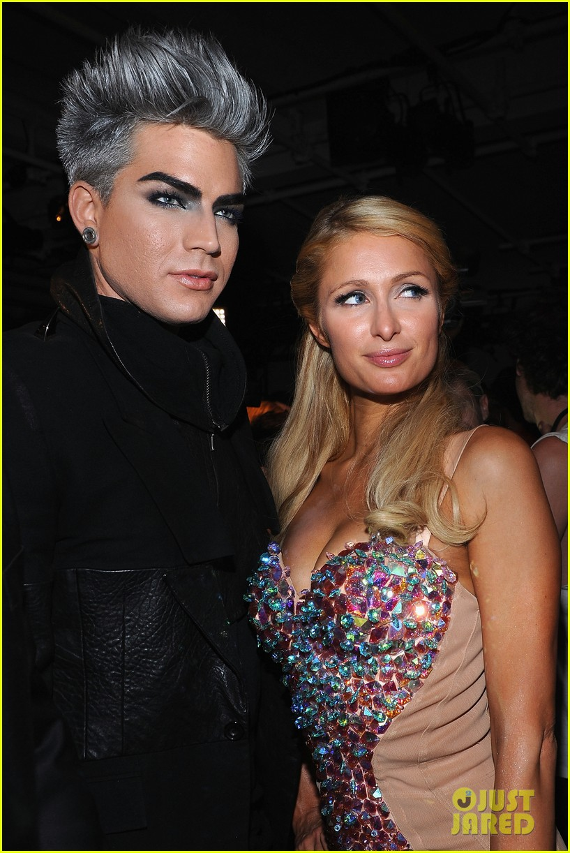 adam lambert on paris hilton shes not worth it 012728886