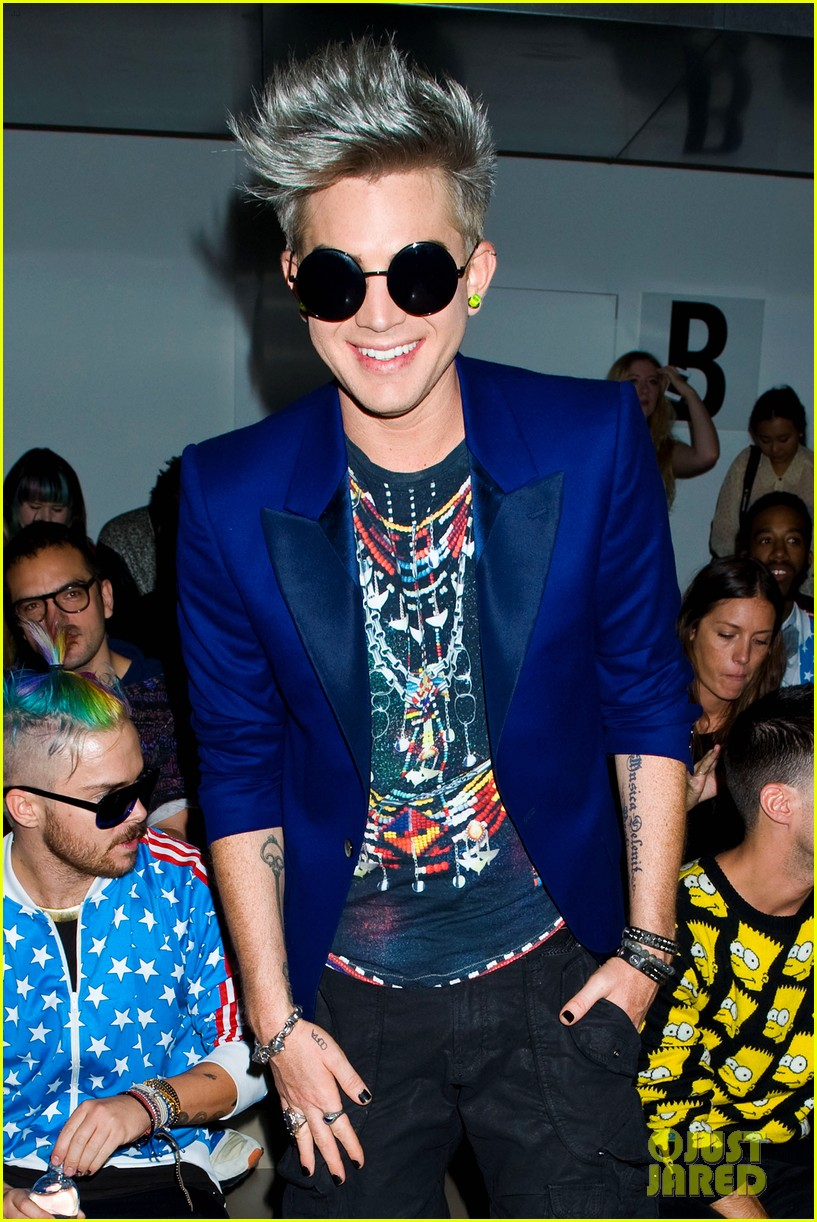 adam lambert ryan lochte jeremy scott show 02