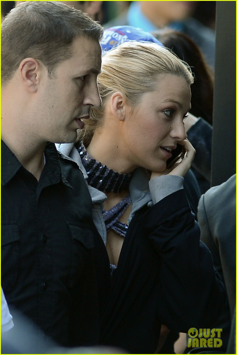 blake lively first post wedding sighting gossip girl set 102723570