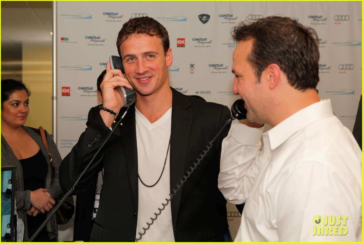 ryan lochte kate upton charity day 2012 14
