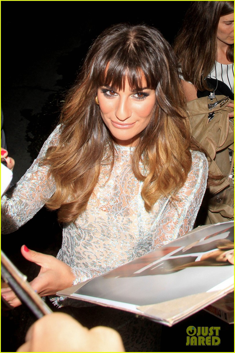 lea michele visits kimmel glee cast attends fox party 102719285