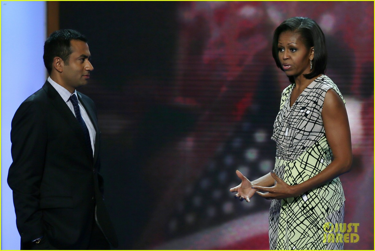 michelle obama preps democratic national convention in charlotte kal penn 062713545