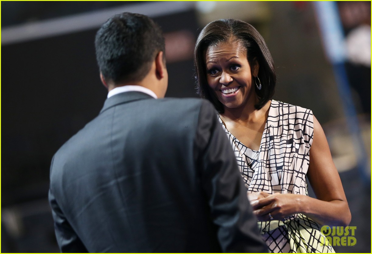 michelle obama preps democratic national convention in charlotte kal penn 082713547