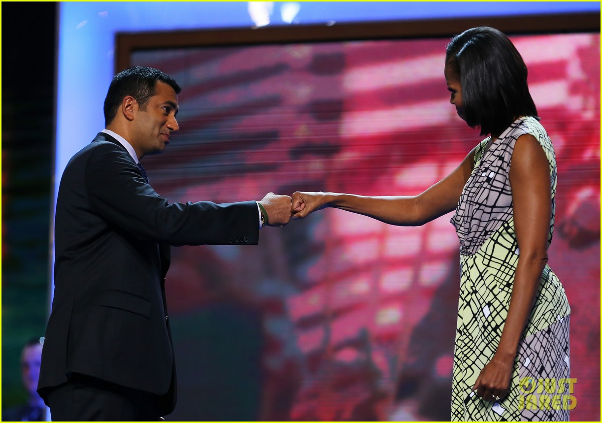 michelle obama preps democratic national convention in charlotte kal penn 092713548