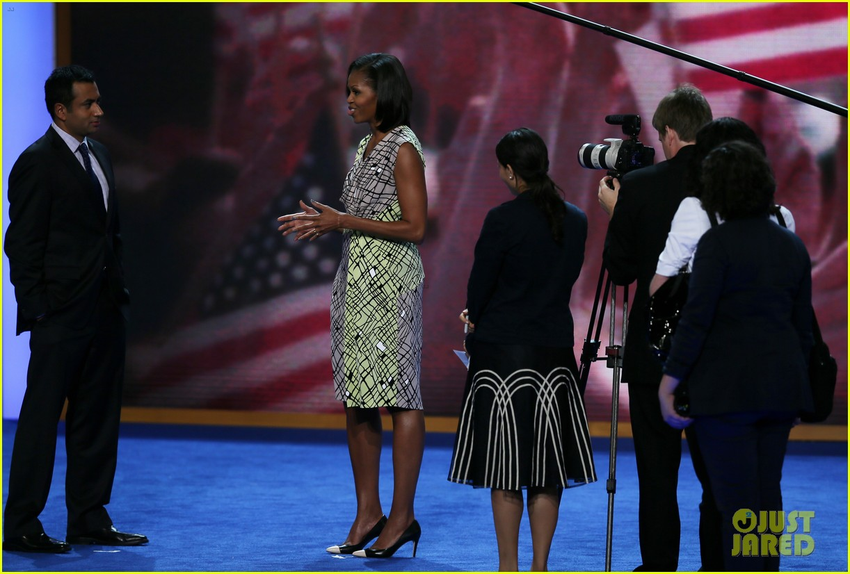 michelle obama preps democratic national convention in charlotte kal penn 102713549