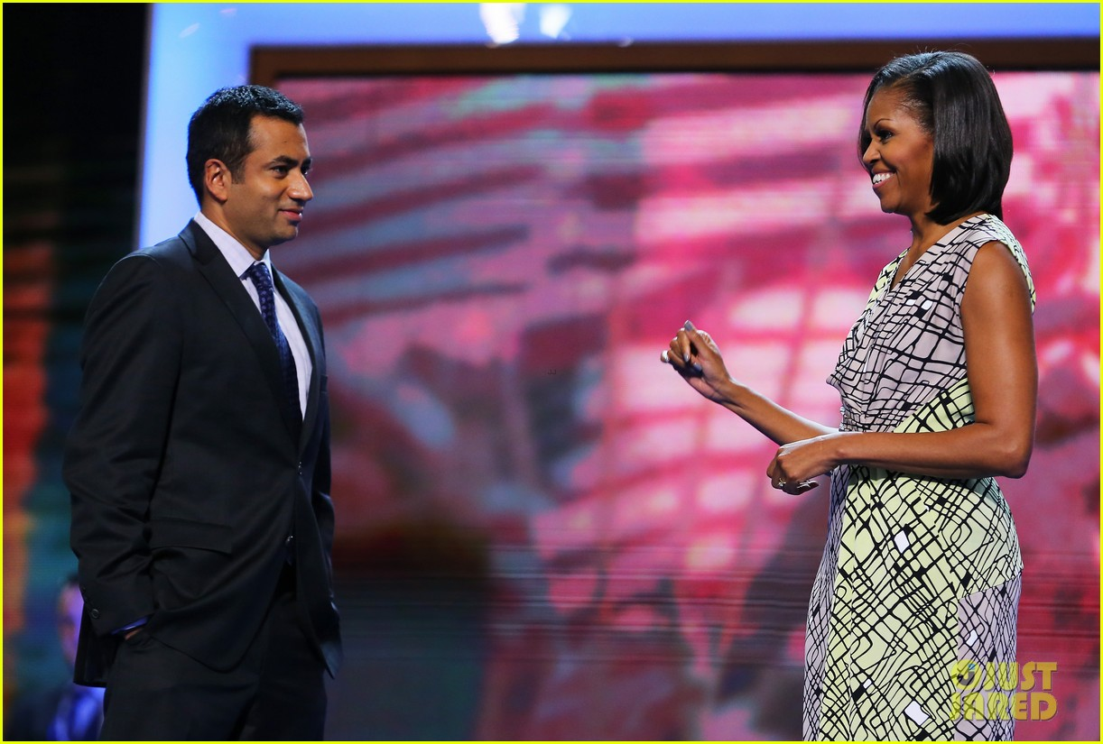 michelle obama preps democratic national convention in charlotte kal penn 112713550