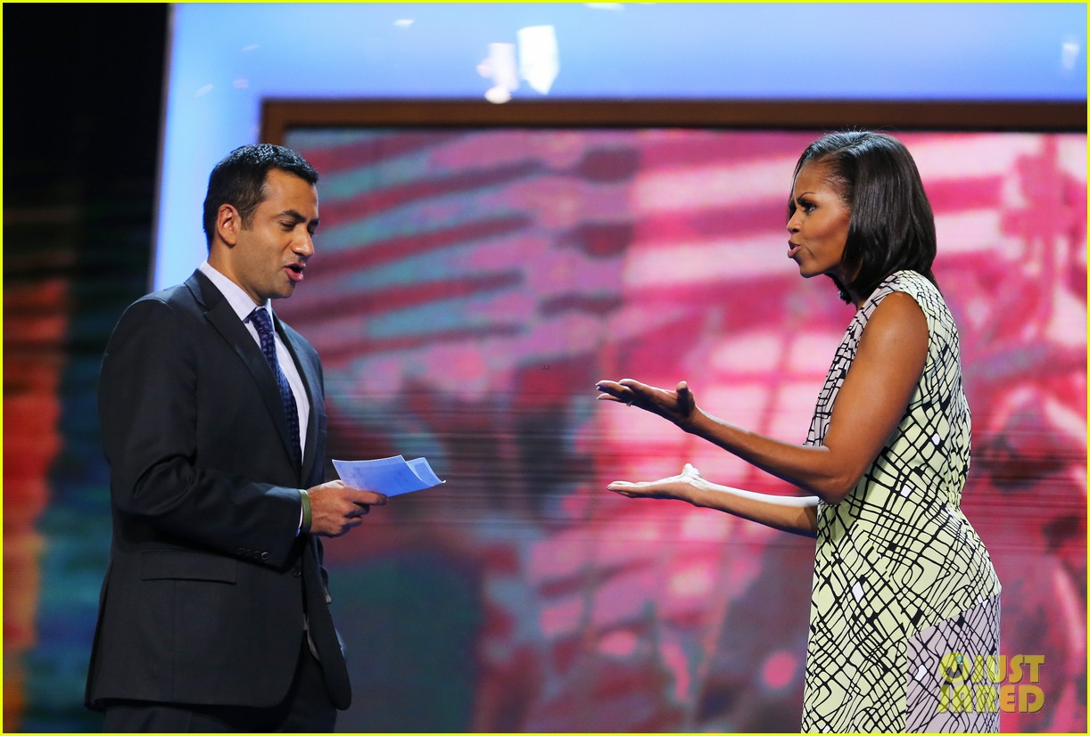 michelle obama preps democratic national convention in charlotte kal penn 122713551