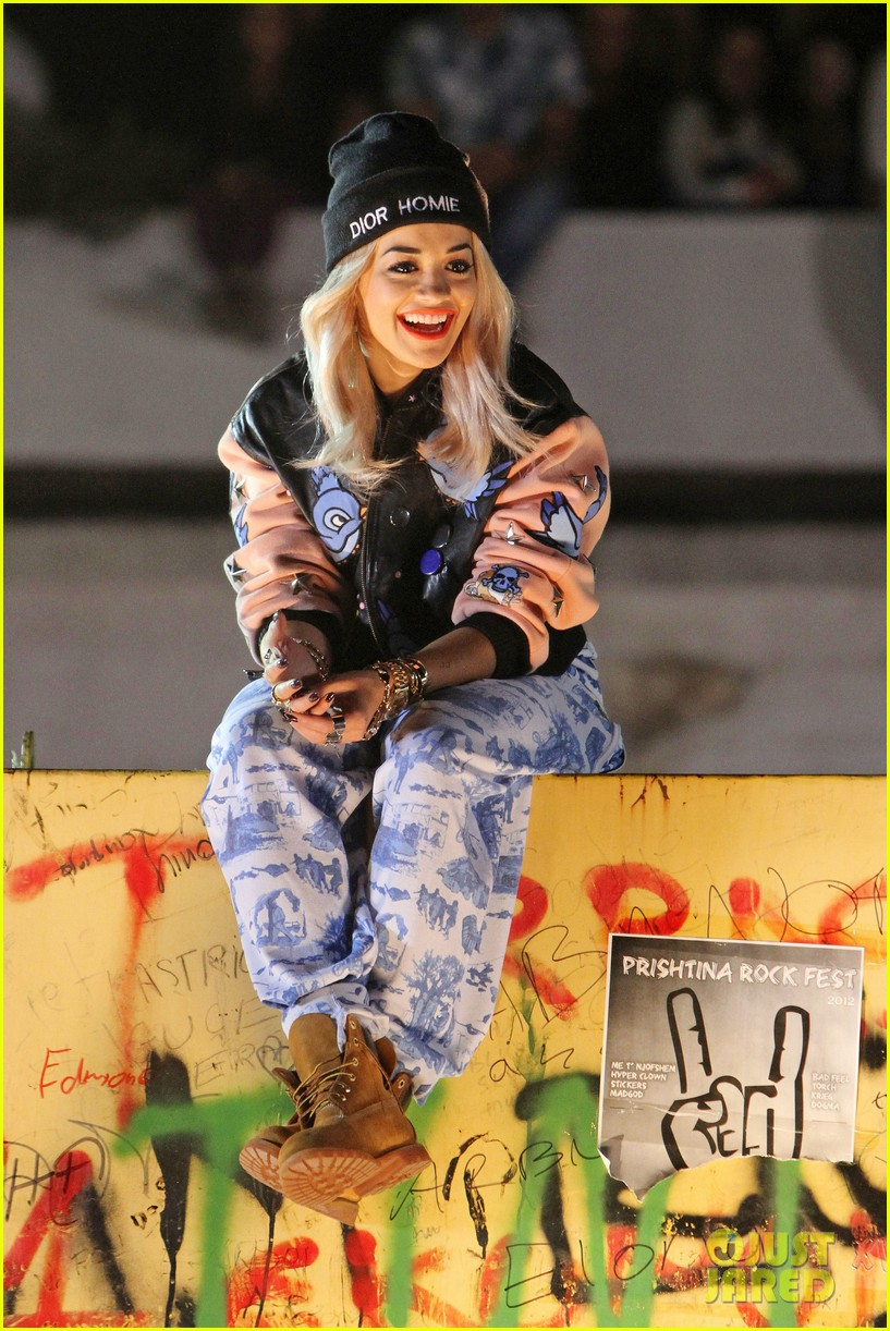 rita ora shine ya light video shoot in kosovo 03