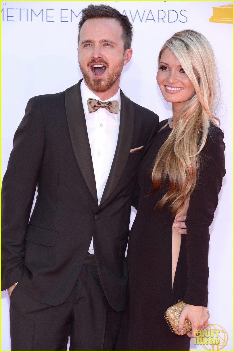 aaron paul lauren parsekian emmy awards 052727179