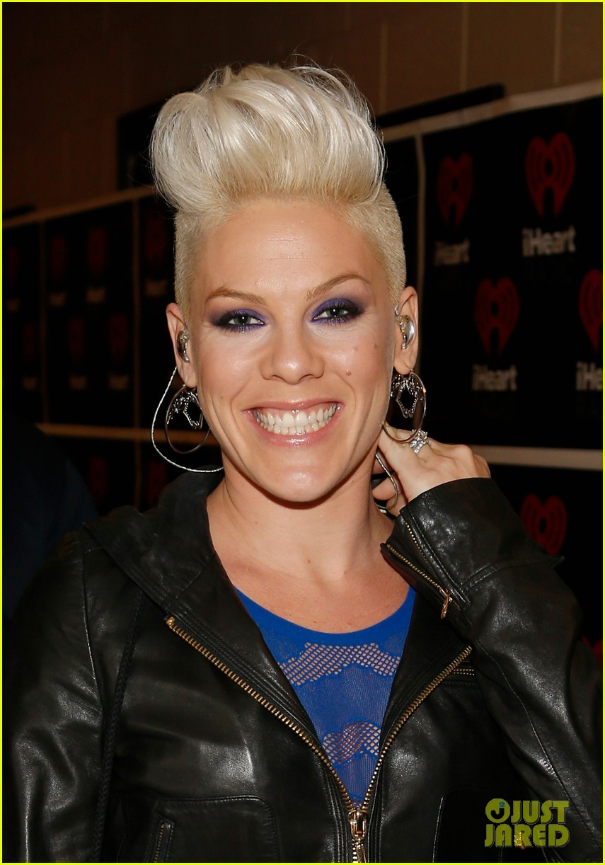 pink flies during iheartradio music festival performance 02