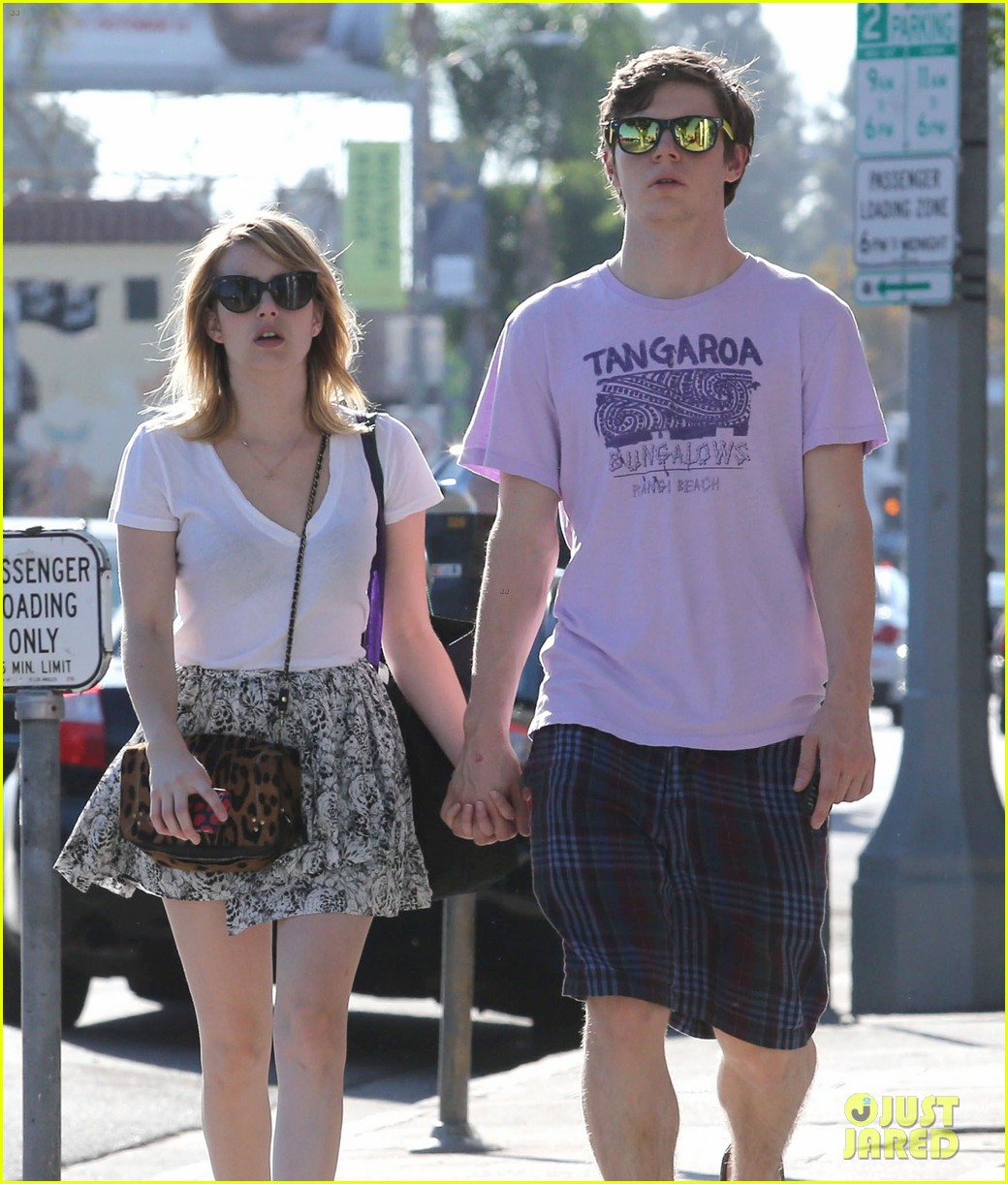 emma roberts evan peters holding hands on melrose 032725511