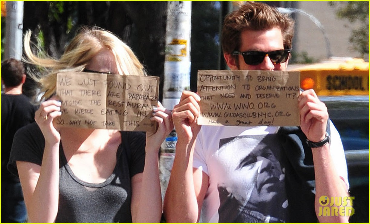 Watch Andrew Garfield and Emma Stone Use Paparazzi to Promote Charities video