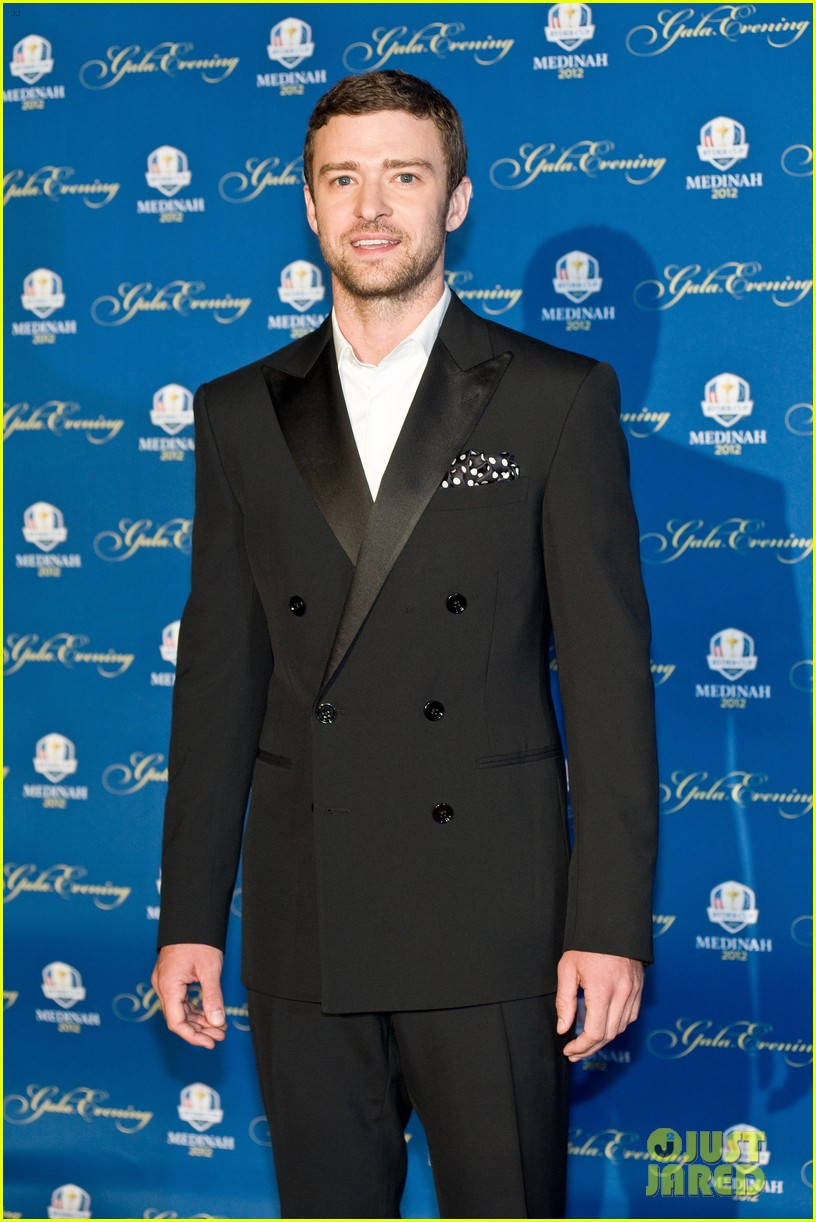 justin timberlake ryder cup gala with tiger woods 012729092