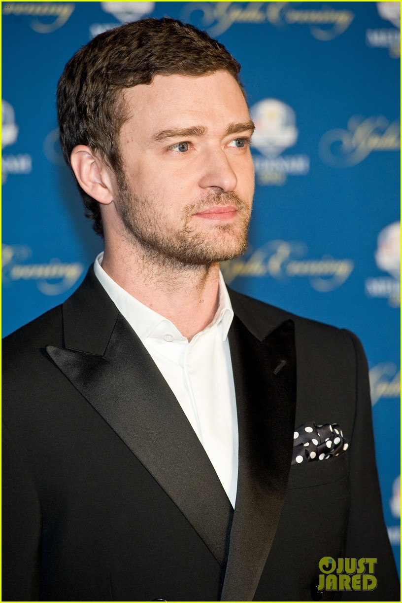 justin timberlake ryder cup gala with tiger woods 092729100