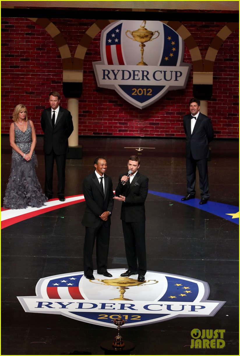 justin timberlake ryder cup gala with tiger woods 132729104