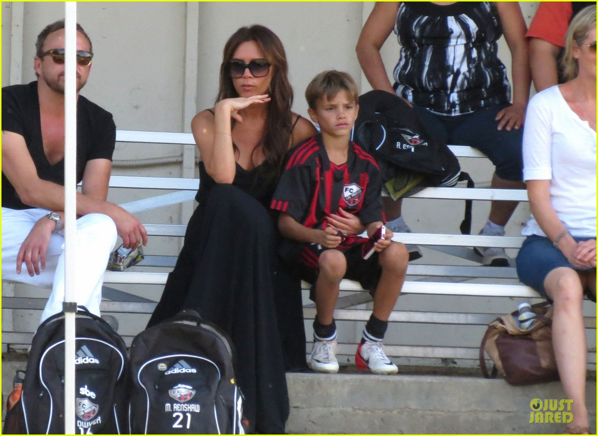victoria beckham sons soccer game 342730828
