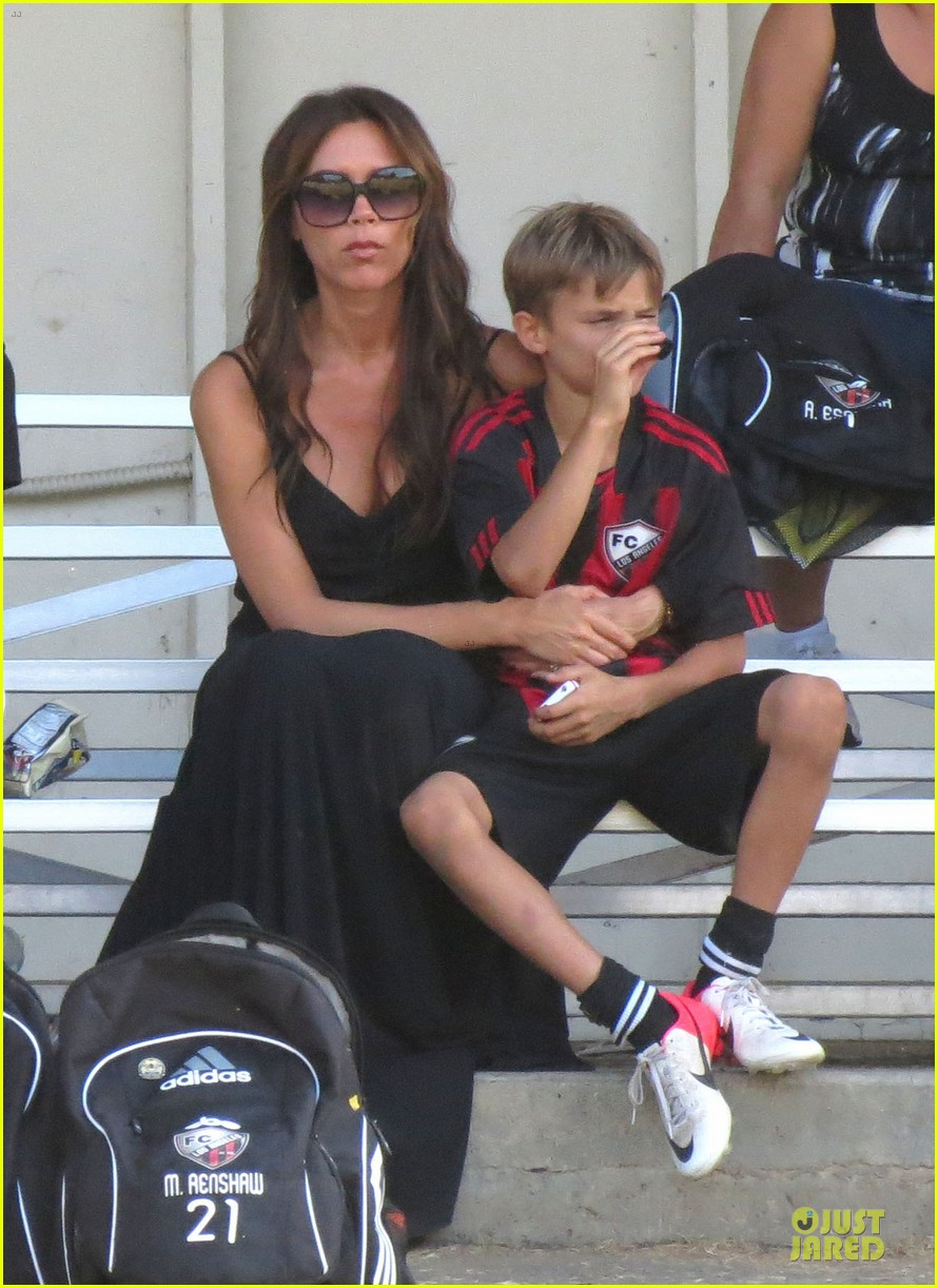 victoria beckham sons soccer game 362730830
