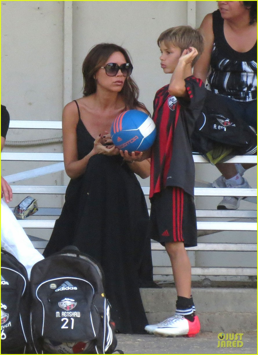 victoria beckham sons soccer game 372730831