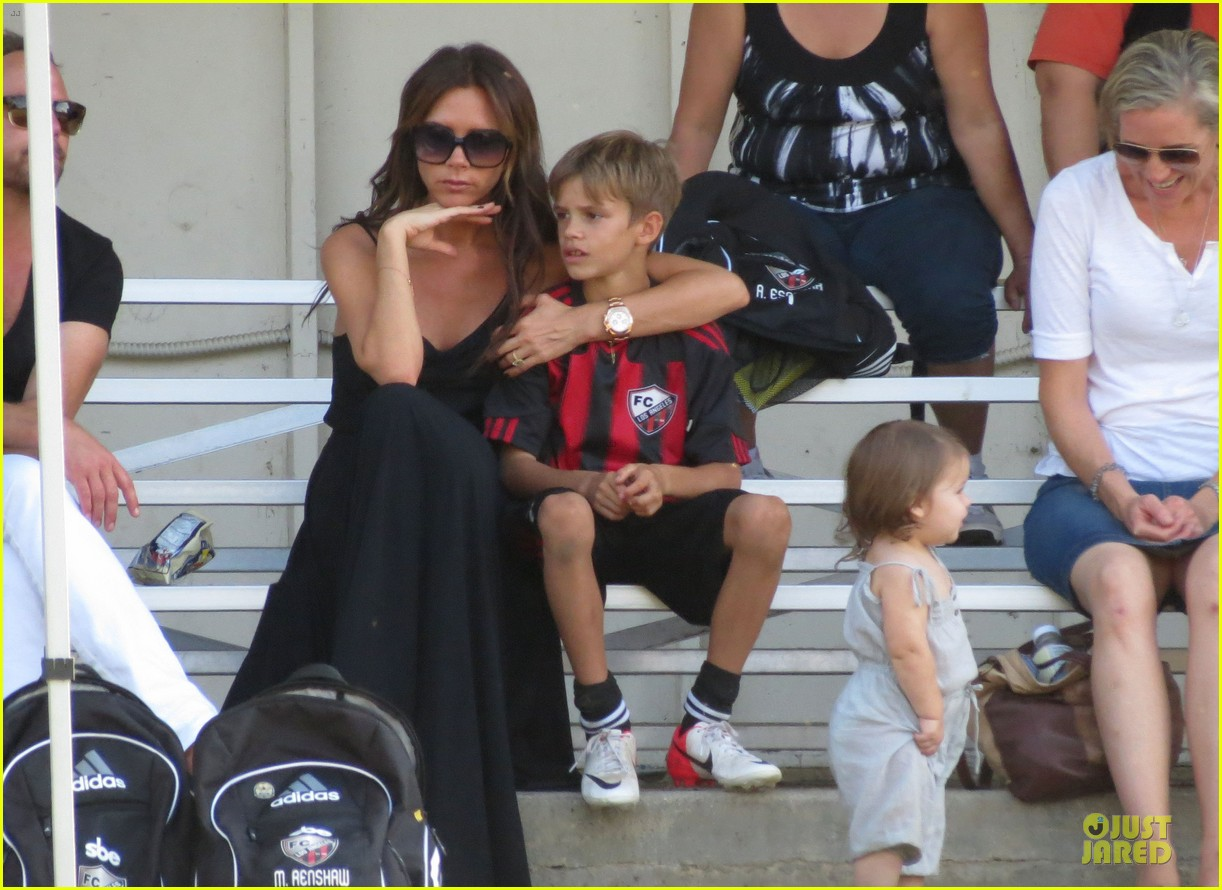 victoria beckham sons soccer game 382730832