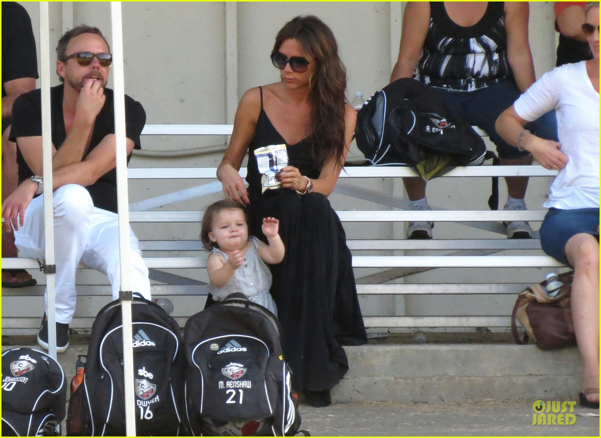 victoria beckham sons soccer game 442730838
